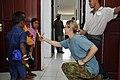 US Navy 080723-N-4128S-102 oyal Australian Navy Leading Seaman Tanya Boge gives local children toothbrushes.jpg