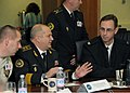 US Navy 091104-N-6138K-001 Ukrainian navy Vice Adm. Viktor Maksimov, first deputy commander-in-chief, talks with U.S. Navy Capt. John W. Moore,.jpg