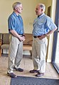 US Navy 100706-N-5549O-008 Secretary of the Navy (SECNAV) the Honorable Ray Mabus meets with U.S. Senator Jeff Sessions at Orange Beach city hall to discuss a long-term plan for the restoration of the Gulf Coast (cropped).jpg