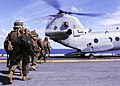US Navy 100919-N-9950J-386 Marines assigned to the 31st Marine Expeditionary Unit (31st MEU) board a CH-46E Sea Knight helicopter aboard the forwar.jpg