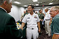 US Navy 110914-N-HW977-113 Capt. Jay Kadowaki, center, is introduced to Al Stretch Strzemieczny before speaking to members of the Order of Daedalia.jpg