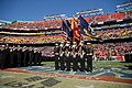 US Navy 111210-N-OA833-099 Members of the U.S. Naval Academy color guard march onto the field before the 112th Army-Navy Football game at FedEx Fie.jpg