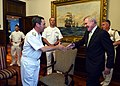 US Navy 120110-N-AC887-004 Secretary of the Navy (SECNAV) the Honorable Ray Mabus meets with Chilean navy Commander in Chief Adm. Edmundo Gonzalez.jpg