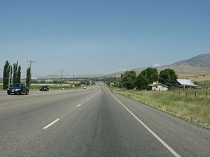 Cache Valley - US-91 near Richmond, Utah