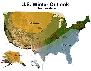 2009–10 North American winter - Temperature Outlook
