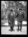 Uncle Sam's attorneys in the oil probe. Former Sen. Atlee Pomerene (left) and Own J. Roberts (right) arrive in Wash. after a flying trip from Wyoming and Calif. to report developments LCCN2016893295.jpg