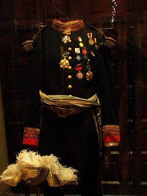 Uniforme de Porfirio Diaz