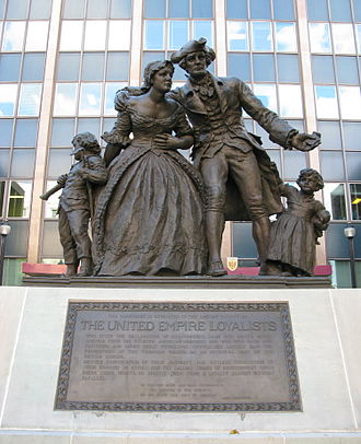 Monarchism in Canada - A monument to the United Empire Loyalists in Hamilton, Ontario.