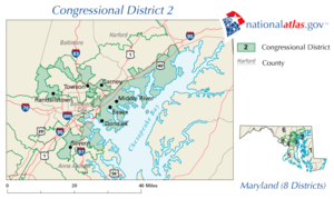 United States House of Representatives elections in Maryland, 2006 - Image: United States House of Representatives, Maryland District 2 map