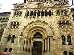 Universitatea de Arhitectura si Urbanism %22Ion Mincu%22, corpul vechi, Str. Biserica Enei, Bucuresti sect. 1 (detaliu 4)