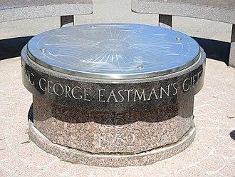 George Eastman - Meridian marker and Eastman memorial