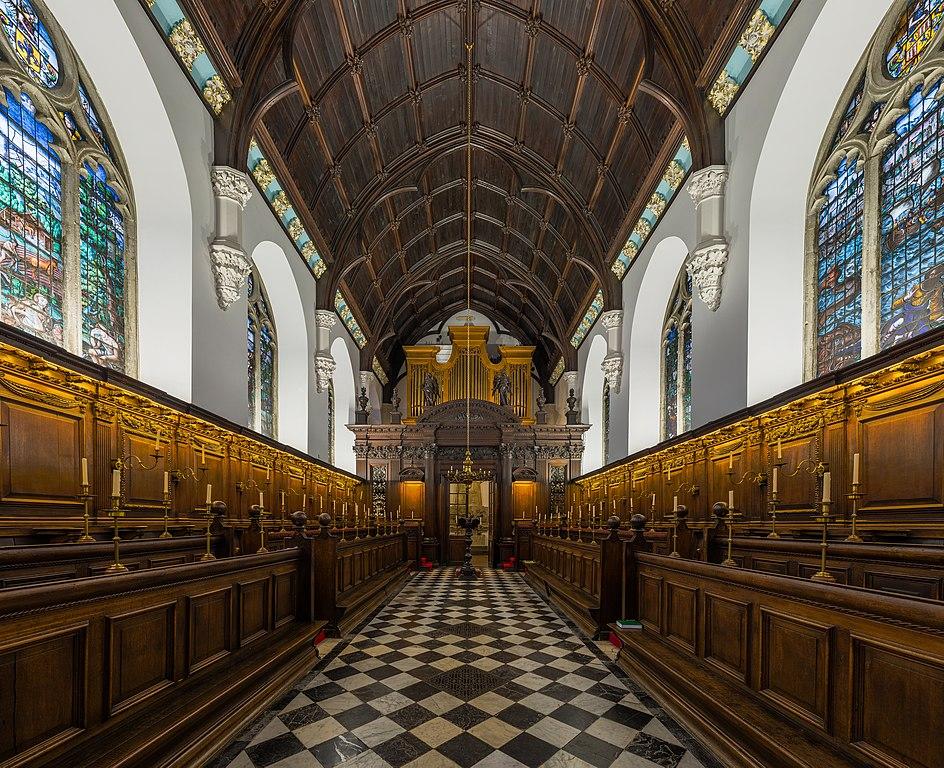 Chapelle de l'University college d'Oxford- Photo by DAVID ILIFF. License: CC-BY-SA 3.0