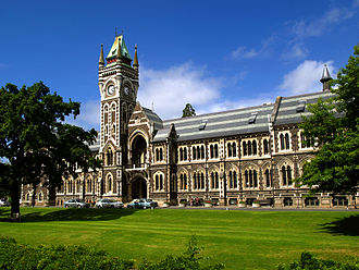 Dunedin North - University of Otago clocktower building
