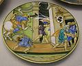 Urbino, francesco xanto avelli, piatto con astolfo che suona il corno e stemma pucci, 1532.JPG
