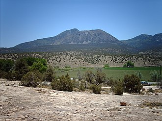 Ute Mountain - Ute Peak from the north.