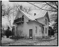 VIEW OF NORTH REAR AND WEST SIDE - Conrad Fox, Jr. House, 3500 Rapids Court, Mount Pleasant, Racine County, WI HABS WIS,51-MTPLE,1-6.tif