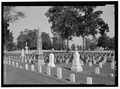 VIEW OF PRIVATE HEADSTONES. VIEW TO NORTH. - New Bern National Cemetery, 1711 National Avenue, New Bern, Craven County, NC HALS NC-1-12.tif