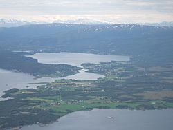 Valnesfjord seen from the air.JPG