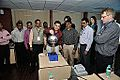 Van de Graaff Generator Experimentation - Indo-Finnish-Thai Exhibit Development Workshop - NCSM - Kolkata 2014-11-27 9739.JPG