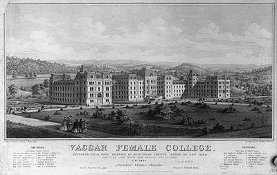 Vassar College in an engraving from 1862.