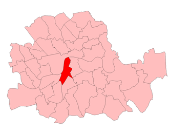 Vauxhall (UK Parliament constituency) - Vauxhall in the Parliamentary County of London from 1950 to 1974