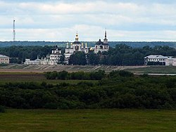 The Sukhona embankment, as seen from the Troitsko-Gledensky Monastery