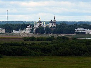 Veliky Ustyug - The Sukhona embankment, as seen from the Troitsko-Gledensky Monastery