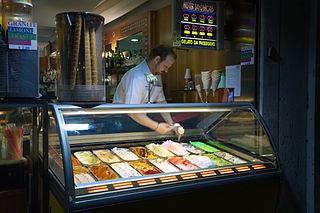 Ice cream parlor Shop selling frozen desserts