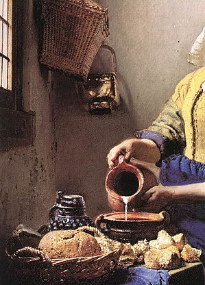 Vermeer, Johannes - The Milkmaid, detail table - c. 1658.jpg