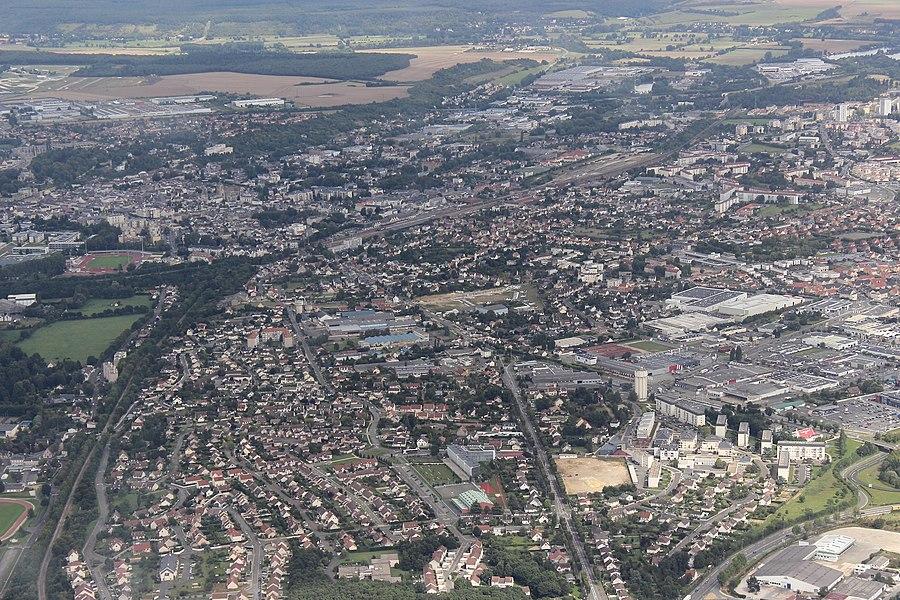 Vue aérienne de Vernouillet et du Sud-Ouest de Dreux
