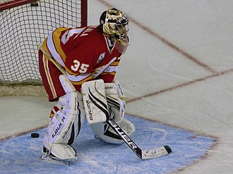 Vesa Toskala - Toskala with the Calgary Flames in 2010