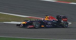 2013 Chinese Grand Prix - A late surge by Sebastian Vettel was not rewarded with a podium finish