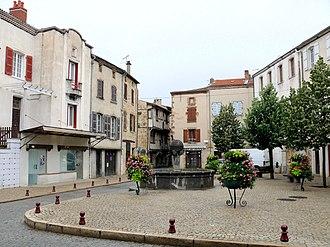 Livradois-Forez Regional Natural Park - Vic-le-Comte - Place of the old market