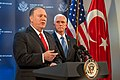 Vice President Pence and Secretary Pompeo at a Joint Press Conference (48915670072).jpg