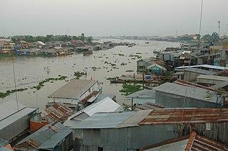 Châu Đốc City in An Giang Province, Vietnam