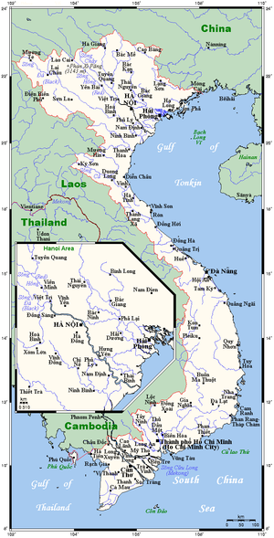 Geography of Vietnam - Vietnam's cities and towns