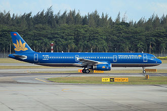 Vietnam Airlines - A Vietnam Airlines Airbus A321-200 at Singapore Changi Airport in 2010.