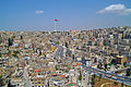 View from Amman Citadel to palace flagpole.jpg