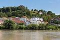 View from innbank towards Lederergasse, Passau, 07.07.2018.jpg