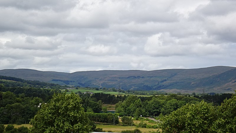 View north from Peel (Victoria) Park, Kirkintilloch, East Dunbartonshire, Scotland.
