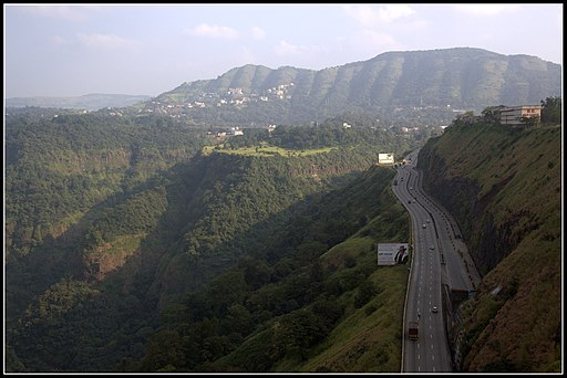 View of Western ghats, from Rajmachi point Khandala, on the Mumbai-Pune expressway