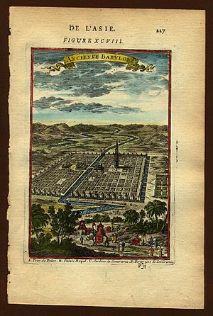 View of ancient Babylon, Description de L'Univ...