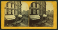 View of unidentified street with commerical buildings, trolley tracks, and buggies, from Robert N. Dennis collection of stereoscopic views.png