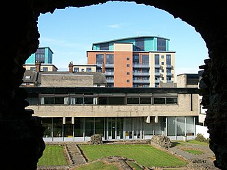 Jewry Wall Museum - Image: View through Jewry Wall