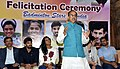 Vijay Goel addressing at the felicitation ceremony of the Badminton Players Saina Nehwal, P.V Sindhu, Srikanth Kidambi and their coaches P. Gopichand and Vimal Kumar, in New Delhi.jpg