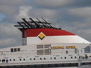 Viking XPRS' Funnel 18 May 2012 Port of Tallinn.JPG