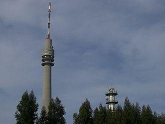Rádio e Televisão de Portugal - TV tower of RTP Porto studios in Monte da Virgem, Vila Nova de Gaia.