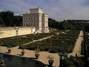 Villa Doria Pamphili - The giardino segreto parterre today