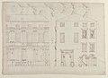 Villa Farnesina, Stables, half front elevation and end elevation (recto) Palazzo Salviati-Adimari, plan (verso) MET 49.92.50 RECTO.jpg