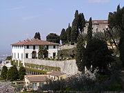 The Albertian Villa Medici in Fiesole: terraced grounds on a sloping site.